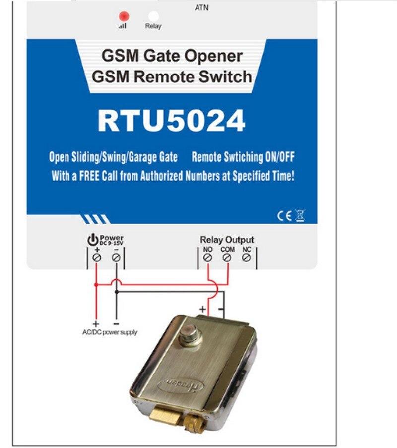 Système d'alarme automatique de rtu 5024 GSM d'ouvreurs de porte de mule de moteur de voiture électrique