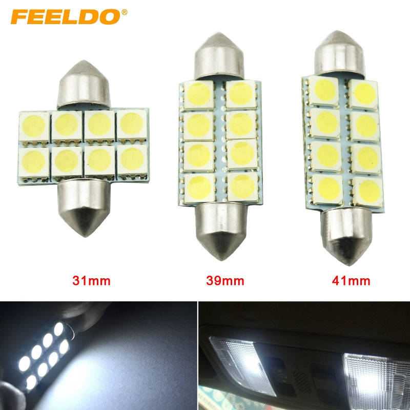 LAND ROVER 39MM 5050 3 SMD LED Festoon Dome Light Lamp Bulb