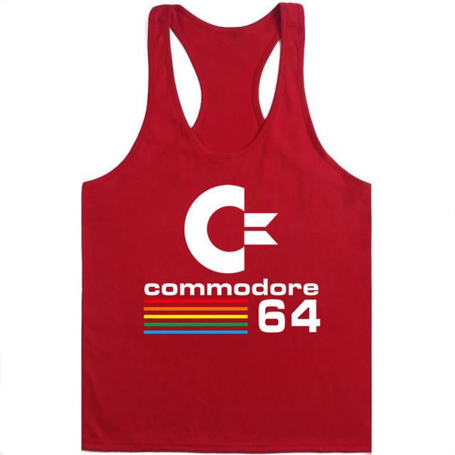 2018 Cotton Big Size Summer men clothing Tank Tops Black White Gray Red Singlets Sleeveless fitness men vest  t shirt