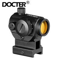 Mini 1X24 Rifescope Sight Verlichte Sniper Rood Groen Dot Sight Met Quick Release Red Dot Scope 20Mm Rali Mount jacht