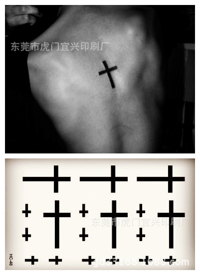 Small cute temporary tattoo sticker men women cross finger ring Harajuku beach waterproof body art tattoo