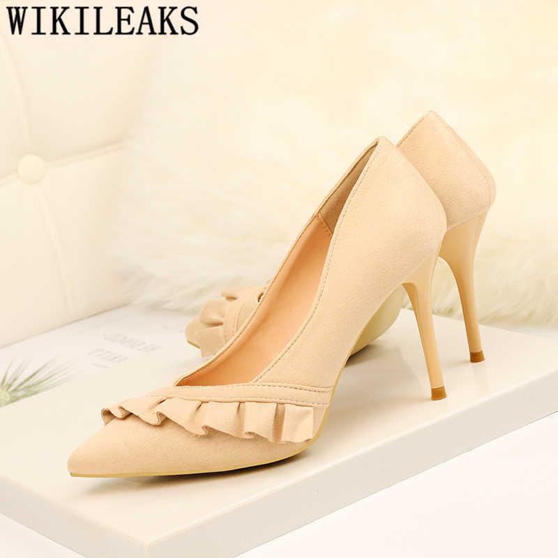 Ăn mặc giày văn phòng phụ nữ giày cao gót màu đen phụ nữ bơm sexy gót tacones giày thanh lịch stiletto gót sapatos feminino