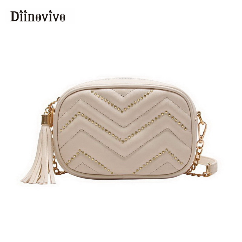 DIINOVIVO Fanny Pack Women's Waist Bag Women Belt Bag Luxury Brand Tassel Chest Handbag 2018 New Fashion Shoulder Bags WHDV0469 belt bag women waist bag white waist fanny pack luxury brand leather chest handbag lady s belt bags 2018 shoulder bags purse