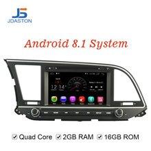 JDASTON Android 8,1 DVD плеер автомобиля для hyundai ELANTRA 2016 2017 wi fi gps навигации 2 Дин Радио стерео Мультимедиа RDS географические карты