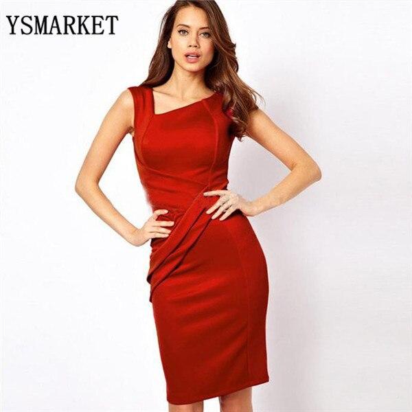 2018 Noble V-neck Sleeveless Slim Temperament Charm Dress Sexy Women Knee-length Bodycon Dress E2042