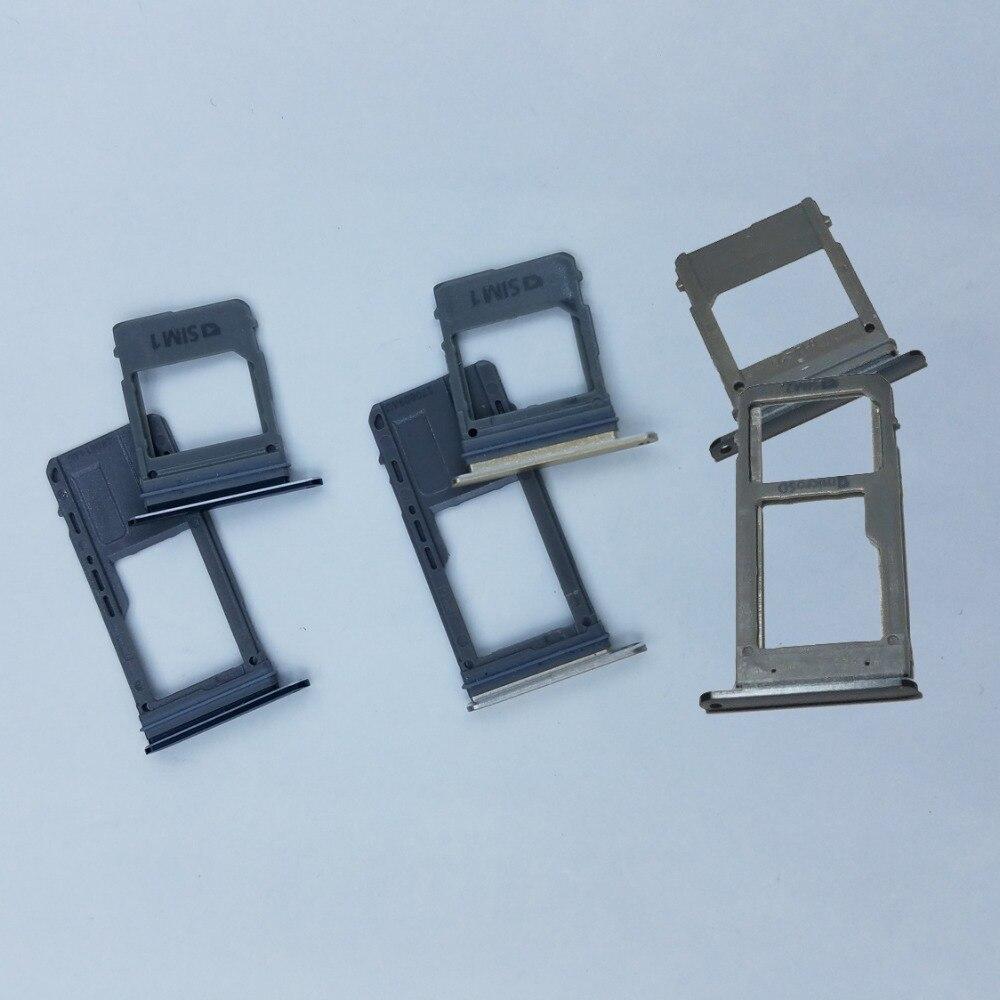 For Samsung Galaxy A5 A7 2017 A520 A520F A720 A720F Original Phone Housing New SIM Tray Adapter Micro SD Card Tray Holder