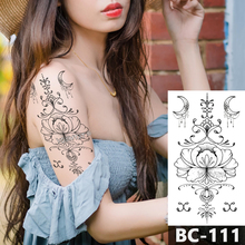 1 Sheet Chest Body Tattoo Temporary Waterproof Jewelry Lace line modern lotus pattern Decal Waist Art Sticker for Women