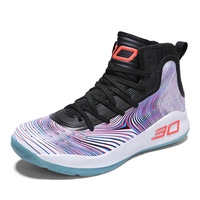 BALADB Man High top Basketball Shoes Men's Cushioning Light Basketball Sneakers Anti skid Breathable Outdoor Sports Shoes