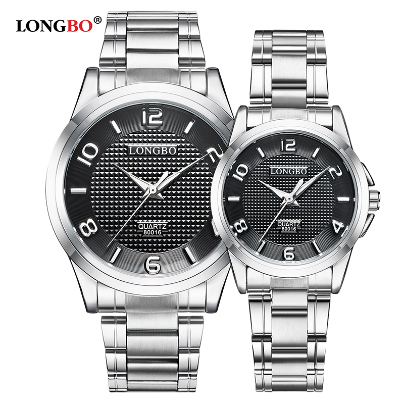 LONGBO Military Men Stainless Steel Band Sports Quartz Watches Dial Clock For Male Full Steel Leisure Watch Relogio Masculino