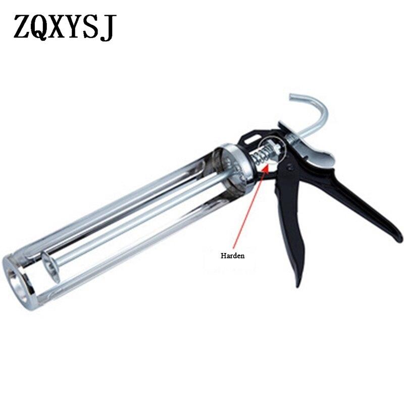 Glass Glue Gun All Steel Semi-barrel Rotary Type Glue Gun Labor-saving Beauty Glue Gun Metal Structural Glue Guns