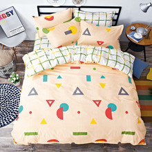 купить 4 Pieces 100% Cotton Duvet Cover Sets Cactus Printed Quilt Cover Pillowcase Bed Sheet Bed Linen King Size Bedding Set по цене 3703.36 рублей