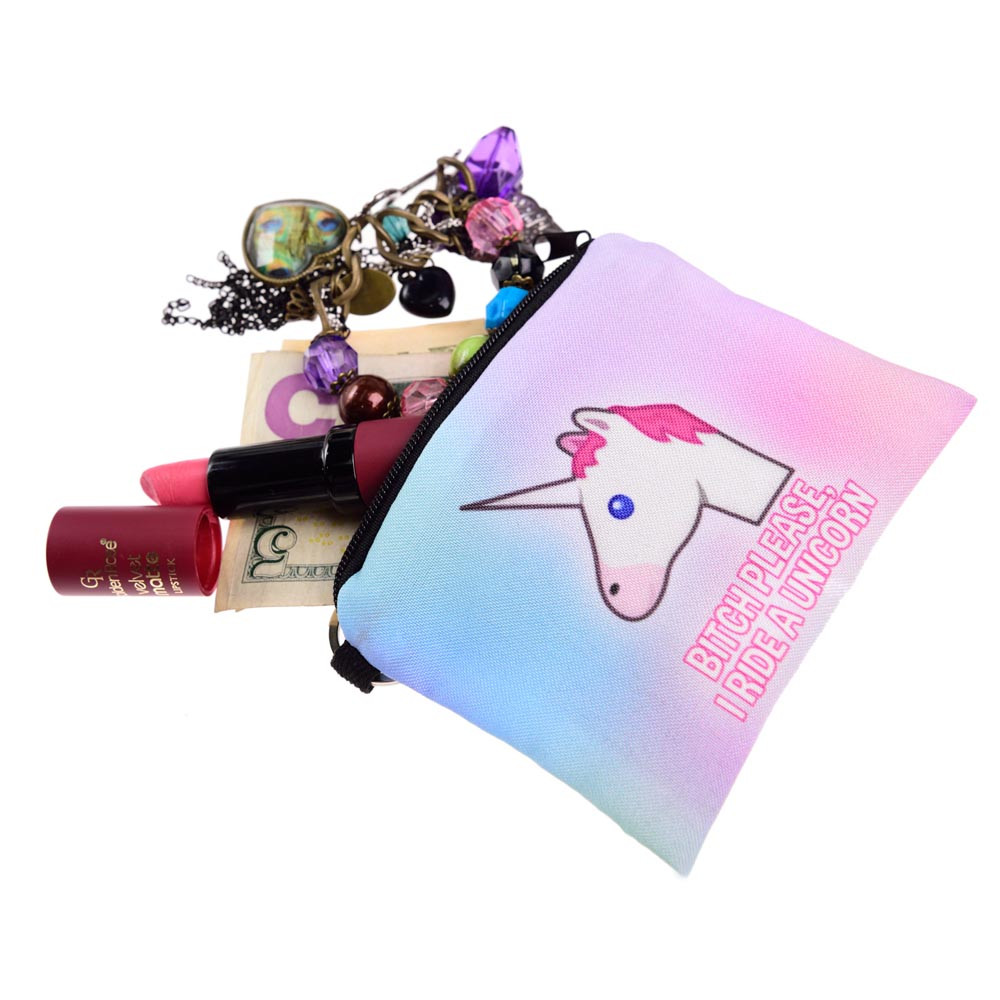 Fashion Hot Travel unicorn Girl printing coins change purse Clutch zipper zero wallet phone Coin key bags A# high quality women printing coins change purse clutch zipper zero wallet phone key bags 8 color drop shipping wholesale 170215