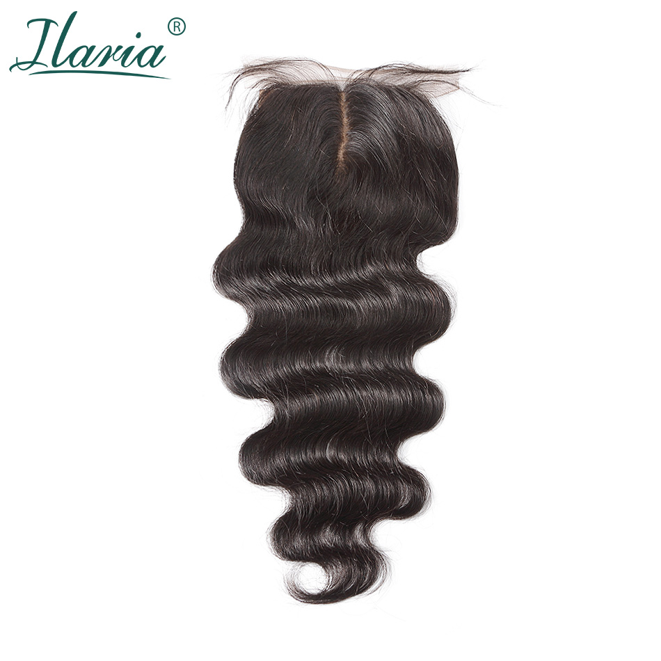 ILARIA HAIR Brazilian Human Hair Silk Base Closure Body Wave 4x4 With Baby Hair Bleached Knots Best Quality Silk Top Closure