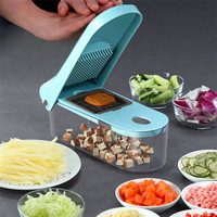 SEAAN Multifunction 8 In1 Food Vegetable Salad Fruit Peeler Cutter Slicer Dicer Onion Food Chopper with Container Kitchen Tool