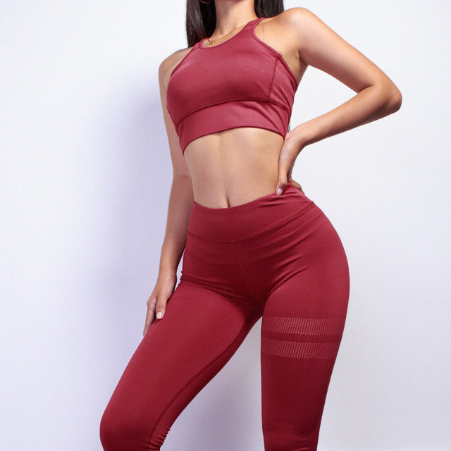 2018 Pure Color White Dot Printing Round Collar Vest+Long Pants Exercise Women Tracksuit Two-Piece Sets Seven Colors Women Suits 4