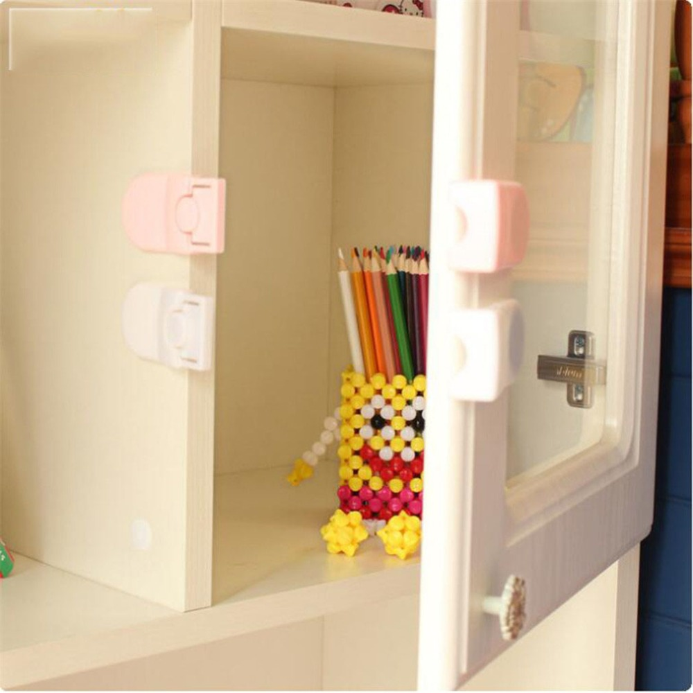 Baby Safety Cabinet Lock Round Hole Adjustment Lock Protection For Children Baby Products Kids Safety Gates Doorways Safety Equipment
