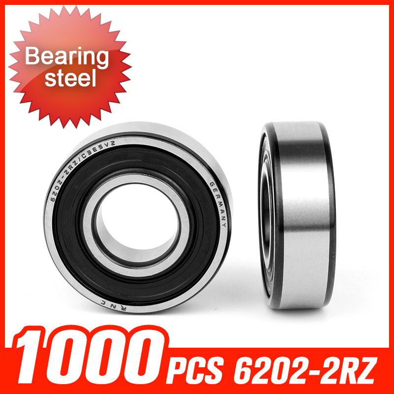 1000pcs 6202-2RZ Bearing 35x15x11mm Double Shielded Bearings For Transmission Gearbox Machine  Spindle Hardware Tool Accessories f 846067 01 f846067 846067 automobile transmission bearings 56x86x25 mm bearing good quality auto bearing