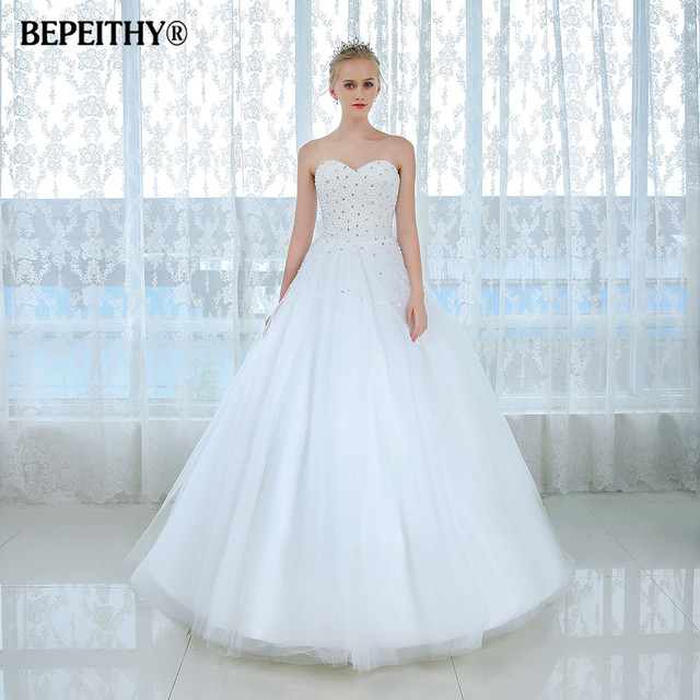New Arrival Princess White Wedding Dress 2017 Crystal Top Vintage Bride Dresses Vestidos De Novias