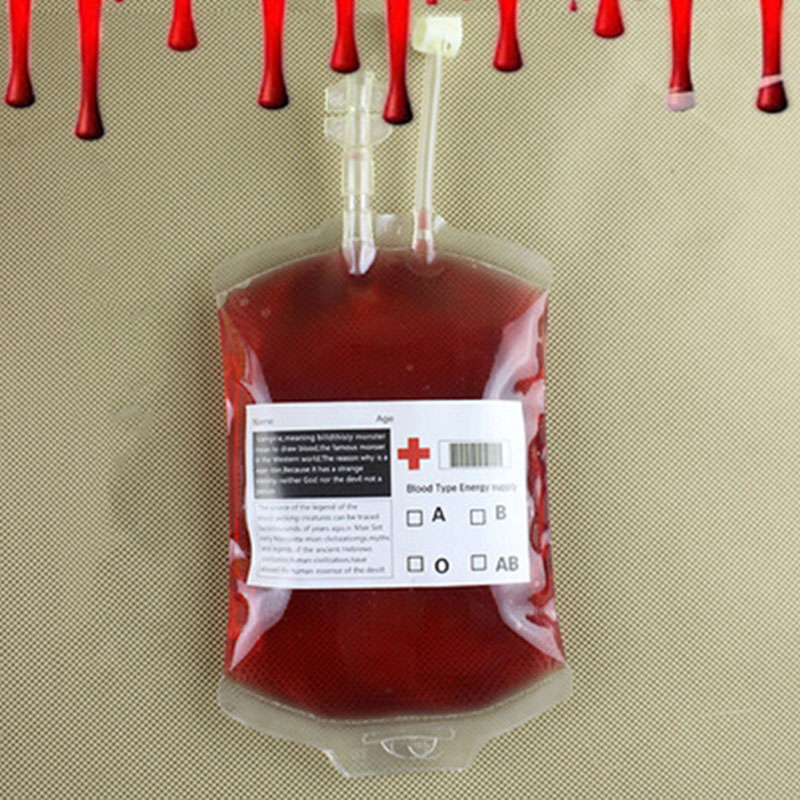 10pcs/lot Clear Reusable Blood Energy Drink Bag Halloween Cosplay Vampire Beverage Food Grade PVC Bag Pouch Props Party Supplies