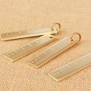 Brass Bookmarks Scale Portable Vintage Copper Ruler Mini EDC Tool Outdoor FaO`US