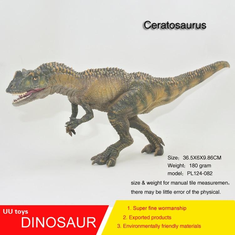 Hot toys Ceratosaurus figure Jurassic Saichania Plastic Dinosaur Toys Model Action Figur ...