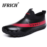 Mens Five Fingers Water Sport Shoes Big Size Slip on Beach Rubber Sneakers Summer Wading PU Waterproof Athletic Outdoor Sandals