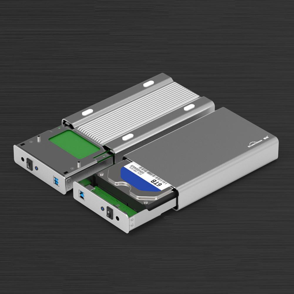 3.5inch Metal USB3.0 SATA Mobile Hard Disk Drive HDD Enclosure Case Accessories