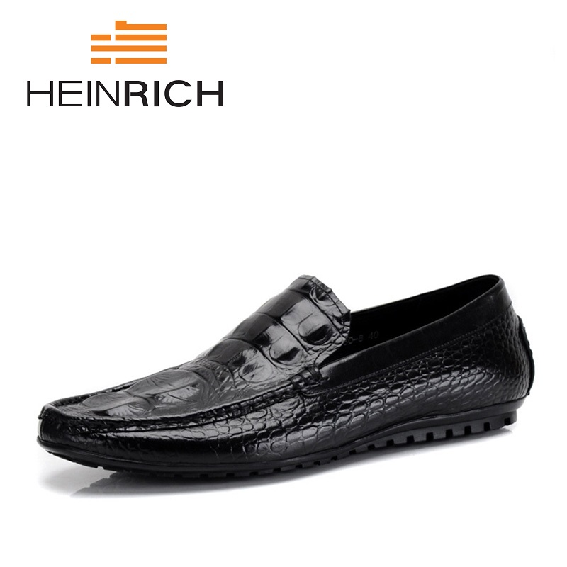HEINRICH New Luxury Men Shoes Black Leather Mens Casual Shoes Brand Comfortable Spring Fashion Breathable Men Loafers ShoesHEINRICH New Luxury Men Shoes Black Leather Mens Casual Shoes Brand Comfortable Spring Fashion Breathable Men Loafers Shoes