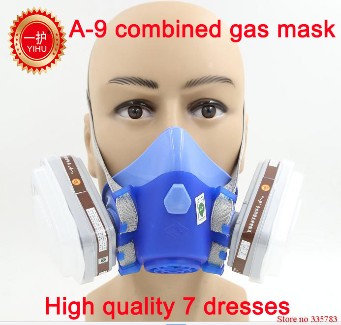 YIHU High quality respirator gas mask pesticides paint antivirus respirator mask silica activated carbon industrial safety mask high end respirator gas mask yihu brand high quality chemical respirator mask pesticides paint spray industrial safety gas mask