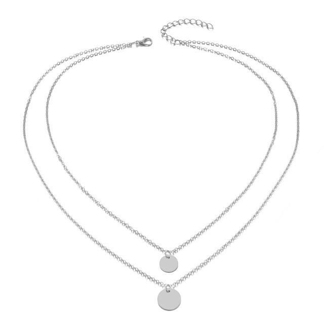 Bohemian Round  Pendant Necklace  Layered Jewelry  2
