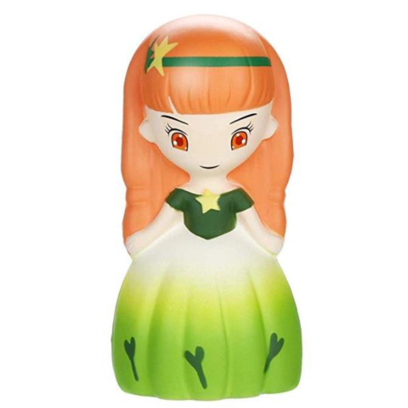 Jumbo Beauty Princess Squishy Girl Doll Slow Rising Simulation PU Bread Squeeze Toy Scented Stress Relief Fun For Kid Baby Gift