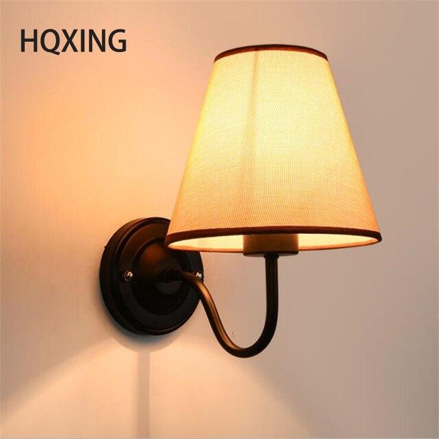 AuBergewohnlich HQXING Moderne LED Stoff + Eisen Wandleuchte Dekoration Beleuchtung  Schlafzimmer Lesenachtwandleuchten Schwarz/weiß/braun