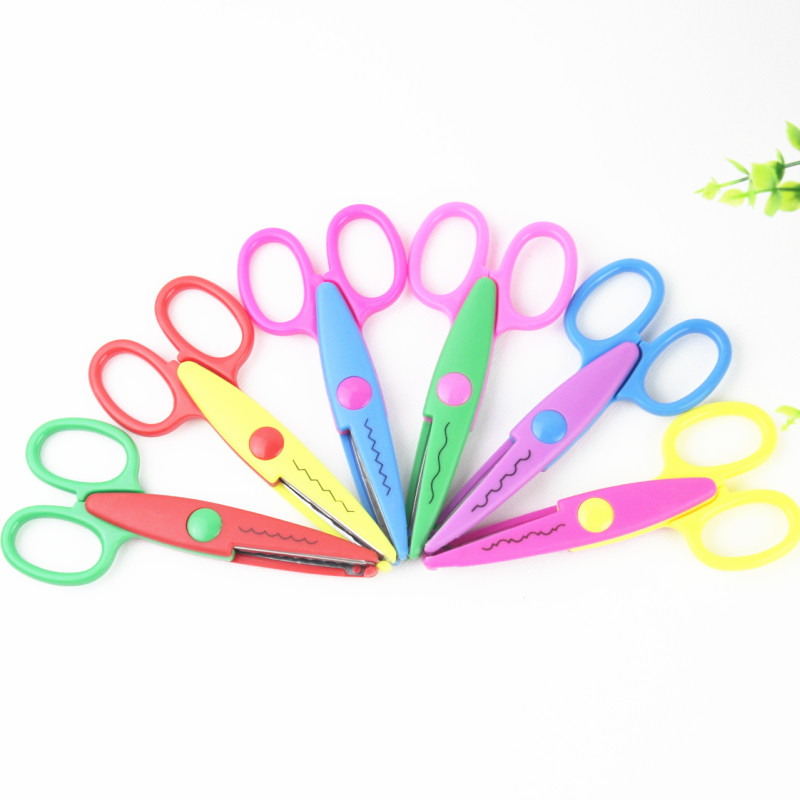 Cutting Supplies Reasonable Children Plastic Mini Safety Scissors Handmade Diy Photo Album Laciness Scissors Tesoura Paper Lace Diary Decoration Scissors