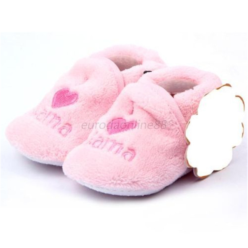 2017 Baby First Walker Girl Boy Coral Fleece Booties Socks Shoes Slippers Born Toddler 0-12M New