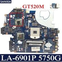Kefu P5WE0 LA-6901P ноутбука материнская плата для Acer 5750 5750G 5755 5755G Тесты Оригинал материнская плата HM65 GT520M