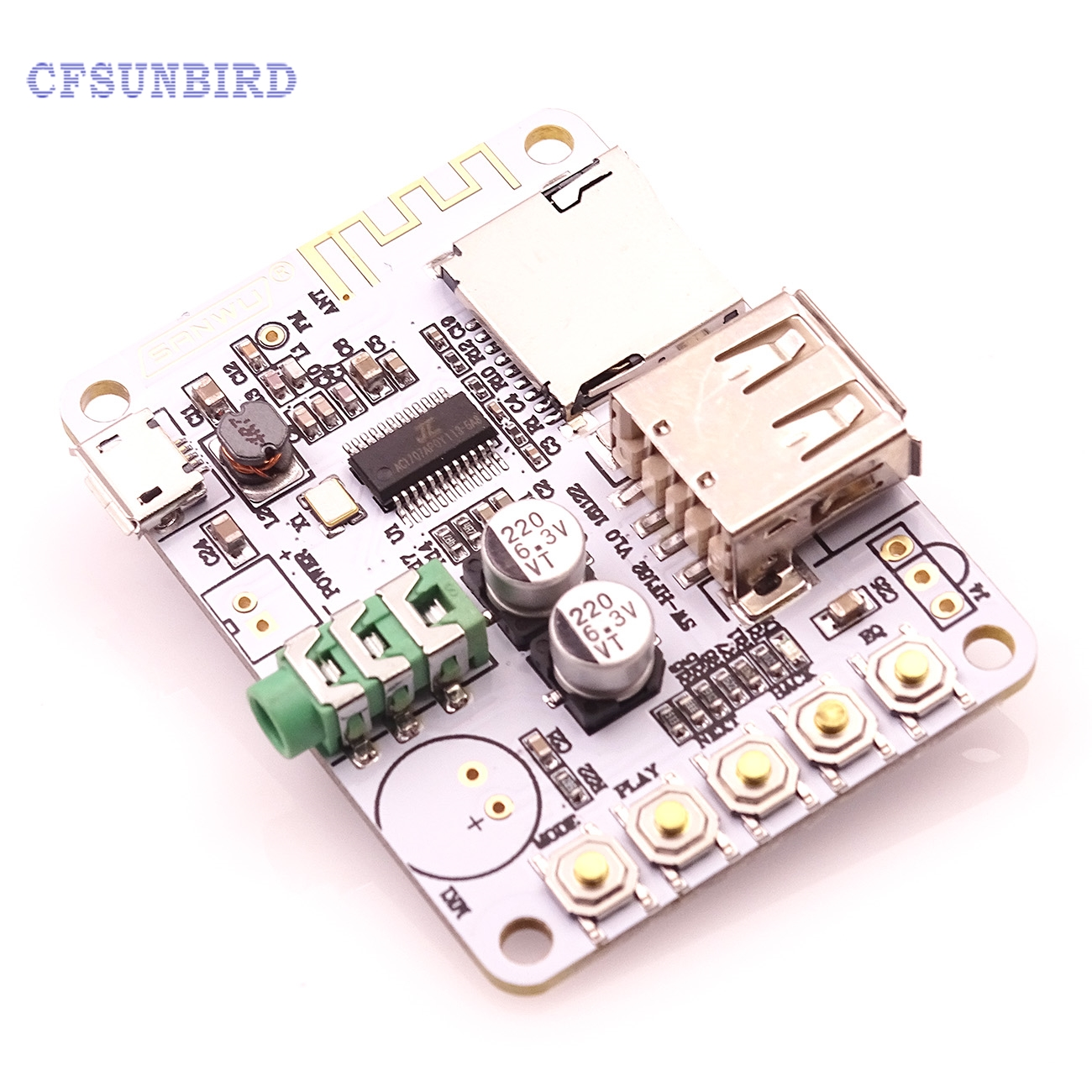 Bluetooth Audio Receiver Bluetooth MP3 Decoding USB TF Card Board Decoding Broadcast Output Level Before Play dc 5v bluetooth audio receiver module usb tf sd card decoding board preamp output support fat32 system