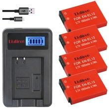 4x EN-EL12 батарея bateria en el12 ENEL12 для Nikon Coolpix S6000 S6100 S6150 S6200 S6300 AW100s AW110s AW120s