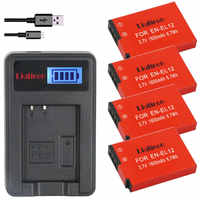4x EN-EL12 batterie batterie en el12 ENEL12 pour Nikon Coolpix S6000 S6100 S6150 S6200 S6300 AW100s AW110s AW120s