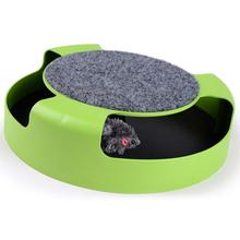OLN Cat Toys Interactive Toy with Rotating Running Mouse and A Two in One Scratching Pad Catch The Catnip
