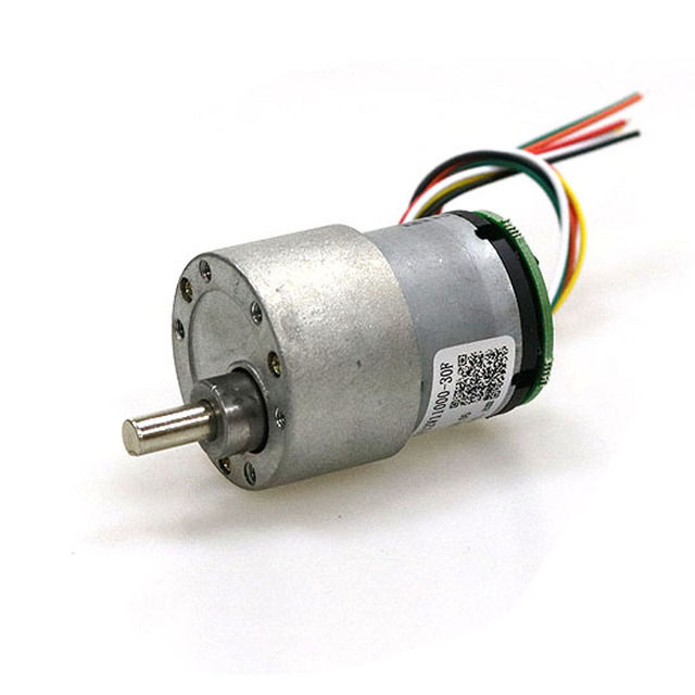High Torque Reducer AB Dual Phase DC Motor 37-520 DC Motor Encoder with Hall Encoder for Smart Car DIY Robot Parts