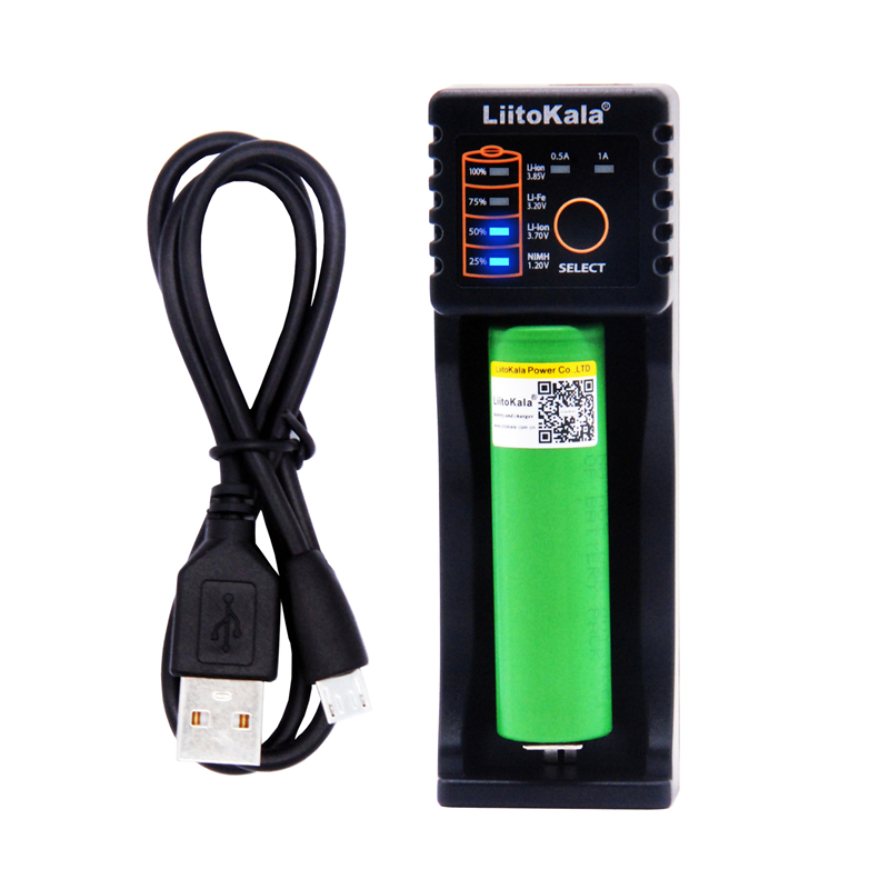 LiitoKala Lii-100 battery charger+ VTC6 3.7V 3000mAh rechargeable Li-ion battery 18650 f ...