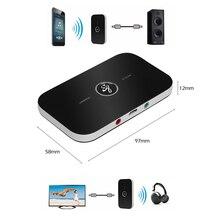 2in1 Bluetooth Передатчик Приемник HIFI Беспроводной Приемник A2DP Портативный Аудиоплеер Aux 3.5 мм Разъем Аудио Адаптер Bluetooth
