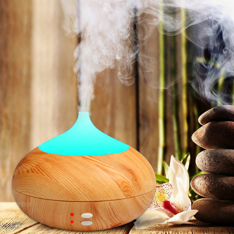300ml Aroma Aromatherapy Humidifier 7 Color LED Wood Grain Essential Oil Diffuser Ultrasonic Air Purifier Mist Maker ultrasonic diffuser essential oil aroma aromatherapy humidifier led wood grain air purifier mist maker s0d35