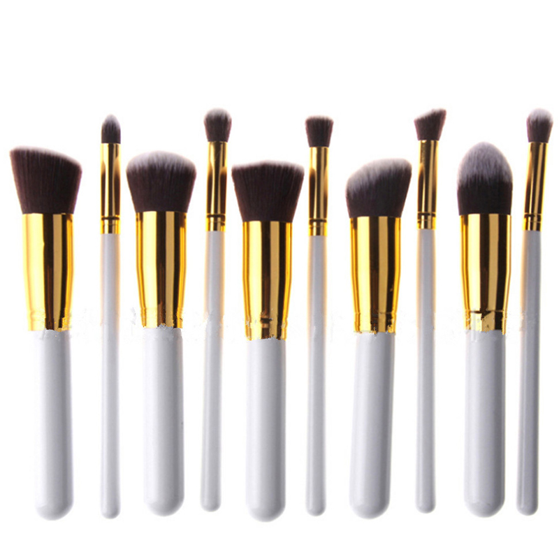 New professional 10Pcs/set Multi-Function Pro Make Up Brush Kit Cosmetic Makeup Tools  Christmas Gifts  Woman's Toiletry Kit