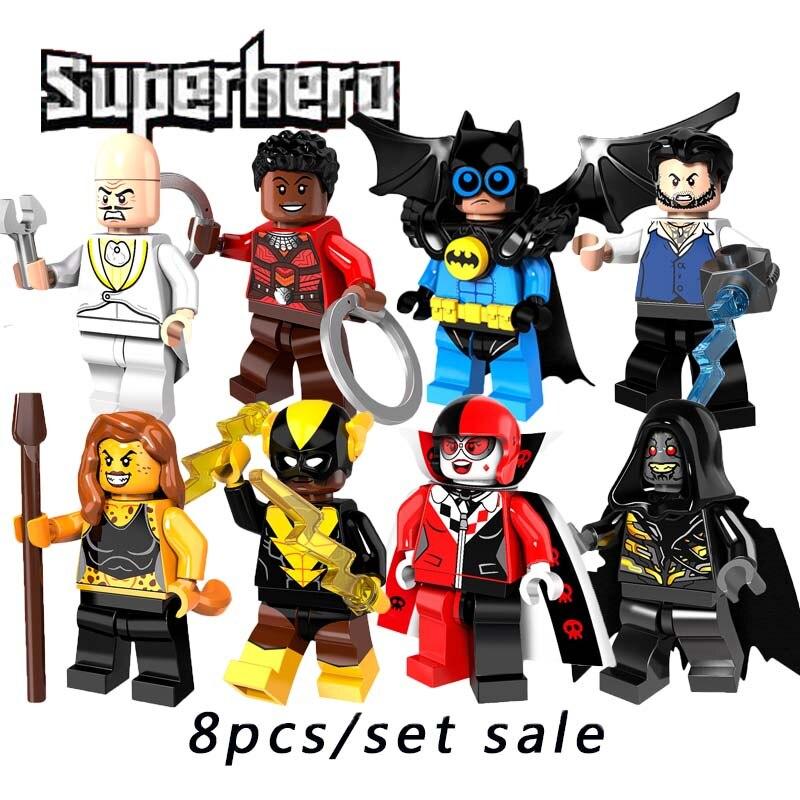 2018 Batman Movie Super Heroes фигурку Улисс klaw corvues GLAIVE Черный вулкан bat Робин Cheetah Building Block Pg8111