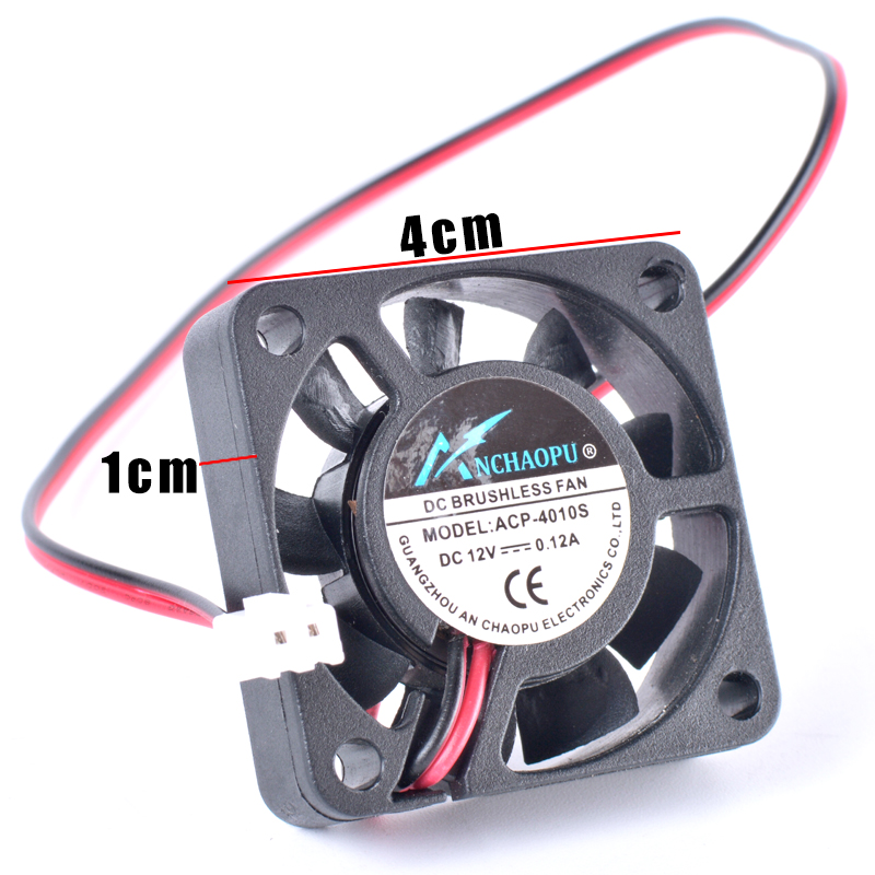 Купить с кэшбэком ANCHAOPU 4cm 40mm fan 40x40x10mm 4010 DC12V 0.12A 2 wires cooling fan for motherboard north and south bridge chip and chassis