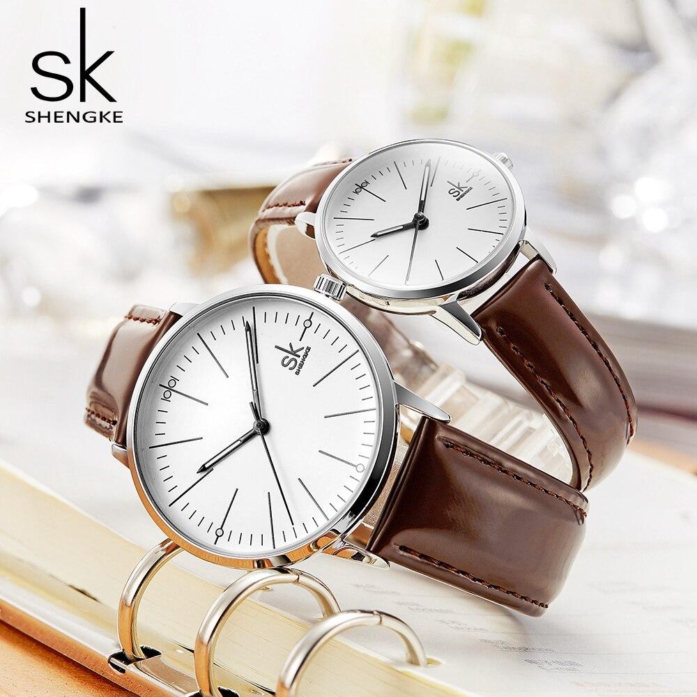 Shengke Paar Uhr Männer Frauen Uhren Einfache Quarz Reloj Hohe Qualität Relogio Masculino Business Uhr Unisex Liebhaber Uhr Saat
