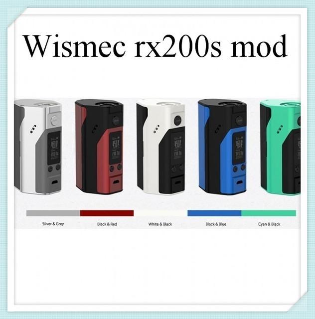 Almacén de rusia genuino wismec reuleaux rx200s mod actualizado rx200 enorme vape cigarrillo electrónico batería tc vs rx2/3 e e-cig mod