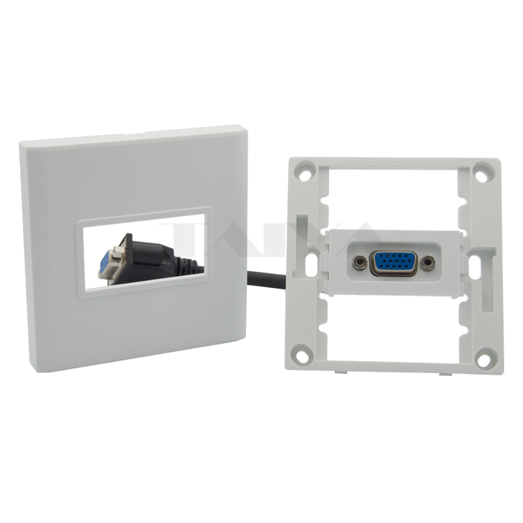 VGA wall plate with back side female to female short VGA cable