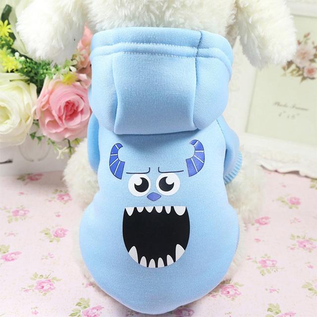 Cartoon Dog Hoodie Pet Dog Clothes For Dogs Coat Jacket Cotton Ropa Perro  French Bulldog Clothing For Dogs Pets Clothing Pug 1